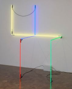 Neon Wrapping Neon IV by Keith Sonnier at Pace Gallery in NYC