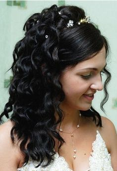 gothic wedding hairstyle