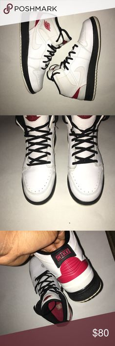 Air Jordan 1 Air Jordan Ones, size 7 Youth. 8/10 condition with minor scuffs and creasing. Equivalent to size 8.5 in women's . Air Jordan Shoes Sneakers