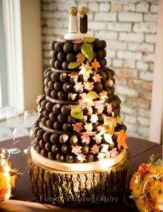 Cake Ball Wedding Cake...Fall Theme