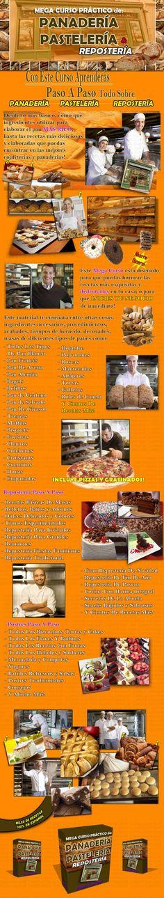 Curso de Reposteria, Panaderia, Pasteleria, Receta de Cocina