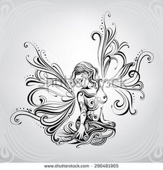 Find Girl Elf Wings Butterfly stock images in HD and millions of other royalty-free stock photos, illustrations and vectors in the Shutterstock collection. Butterfly Wing Tattoo, Butterfly Drawing, Phenix Tattoo, Girl Elf, Fairy Drawings, Fairy Tattoo Designs, Tattoo Zeichnungen, Anime Kawaii, Fairy Art