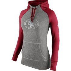 Nike San Francisco 49ers Women's Charcoal Platinum All Time Performance Hoodie