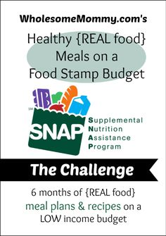 Real Food Meals on a Food Stamp Budget