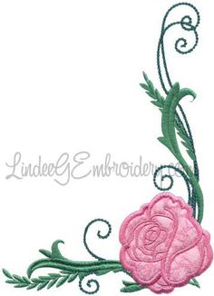 Rose 8 from Elegant Roses Applique.   #machineembroidery #applique #rose #floral