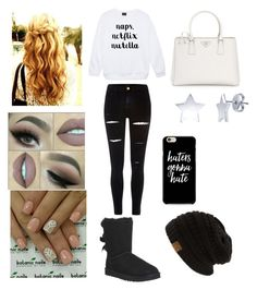 """""""Bethany"""" by ashlynl12323 on Polyvore featuring River Island, UGG Australia, Prada and BERRICLE"""