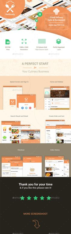 Delifoody   Food Delivery & Restaurant Mobile UI Kit - User Interfaces Web Elements