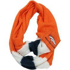 Denver Broncos Ladies Infinity Circle Scarf - Orange