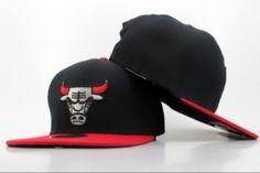Casquette NBA Chicago Bulls Snapback Noir Rouge New Era 12 : Casquette Pas Cher