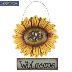 Sunflower Welcome Metal Wall Decor