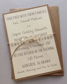 Rustic Modern Wedding Invitations by LemonInvitations on Etsy, $2.00 #Wedding #wedding invitation #Wedding Ideas