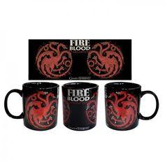 Game of Thrones Fire and Blood Targaryen House Mug on Yellow Octopus #giftsformen #gifts #gameofthrones #mug #coffee #tea