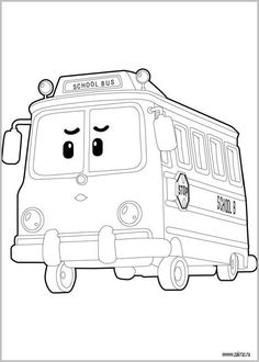 Robocar Poli Coloring Pages On Book