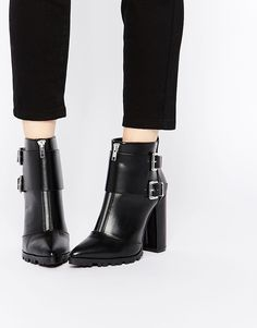 ASOS EVIDENCE Pointed Ankle Boots - Bottines pointues
