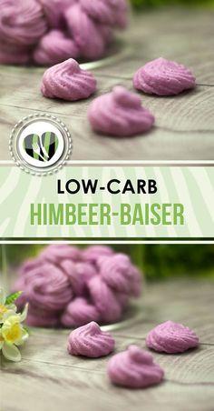 Die Himbeer-Baisers sind lecker, kalorienarm und low-carb.