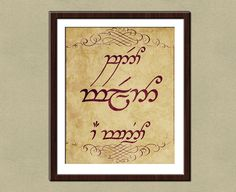 Speak Friend and Enter in Elvish Poster Print. 8x10 by tiedyejedi, $16.00