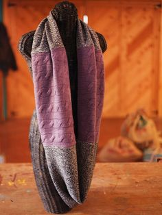 Recycled sweater scarf--simple #Christmas gift!