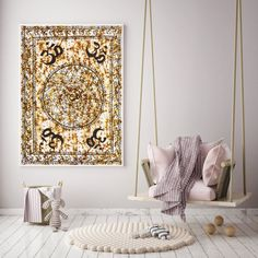 ♥♥♥Om Mandala Tapestry.♥♥♥ * Peace Internal Happiness Beautiful Printed Cotton Fabric Tapestry, Wall Hanging or Yoga Mat, Table cover. #Beautiful #Indian #Cotton #Fabric #Tapestry #Wall #Hanging #Yoga #Mat #Table #cover #Boho #hippie #gypsy #om #symbol #sign #mantra #mandala #decor #decorative #spiritual #religious #religion #hindu #bohemian #love #life #soul #god #fortune #India. It will give a dramatic makeover of your wall and this tapestry would become a conversational piece of art.