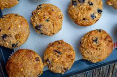 Kimberley's Own Granola muffins with cranberries and blueberries