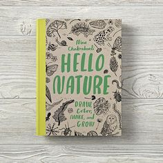 A marvelous hybrid activity book, Nina Chakrabarti's HELLO NATURE encourages users to get out into nature and observe, collect, think and create. From finishing illustrations to creating something new, users can color, draw, doodle and craft with all the great ideas inside.