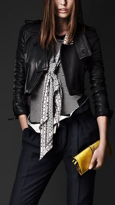 Disconnected Collar Cropped Jacket | Burberry-I break the black and navy rule allllll the time.