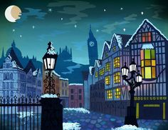 Image result for great clock stage designs set theater christmas carol