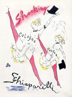 Schiaparelli, how   i love thee... this ad is from 1940's. shocking is right!