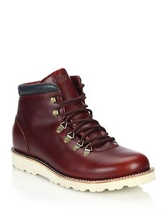 UGG Boysen TL Lace-Up Leather Boots. #ugg #shoes #flats
