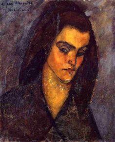 Amedeo Modigliani. La mendicante, 1909, Olio su tela, cm. 46 X 38. Collezione privata