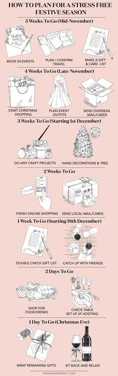 An Illustrated Guide to Planning for the Festive Season (so you don't freak out!)
