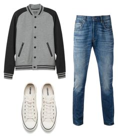 """Untitled #4"" by ingridking on Polyvore featuring Levi's, L.L.Bean, Converse, men's fashion and menswear"