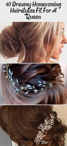 Dreamy Homecoming Hairstyles Fit For A Queen - Hairstyle Elegant Updo ★ Explore trendy, easy, and cute homecoming hairstyles for medium length and for long hair. Updos, half up half down and all down hairstyles are in. Black Prom Hairstyles, Medium Bob Hairstyles, Homecoming Hairstyles, Loose Hairstyles, Girl Hairstyles, Simple Elegant Hairstyles, Elegant Updo, Beautiful Hairstyles, Medium Long Hair