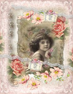 Digital collage sheet vintage Dreams sheet 85 by whimsydust, $4.35
