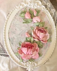 Wall Painting Decor, Sculpture Painting, Wall Sculptures, Plaster Paint, Plaster Crafts, Texture Art, Texture Painting, Cold Porcelain Flowers, Painted Cakes