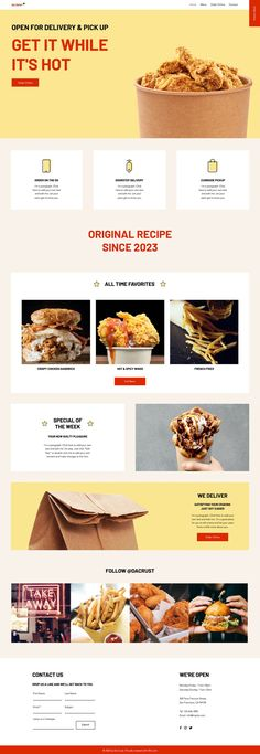 Fast Food Delivery Website | Wix Website Template