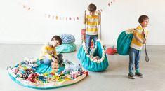Play en Go speelkleed / opbergzak zigzag blauw | Bestel online | PSikhouvanjou