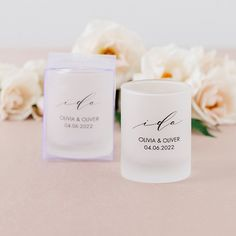 Custom Printed Frosted Shot Glass Wedding Favor - Shop on WeddingWire! Wedding Welcome Bags, Wedding Favors, Wedding Ideas, Inexpensive Party Favors, Liquor Shots, Glass Votive Candle Holders, Engagement Celebration, Circle Shape, Champagne Flutes