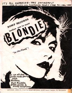 punk rock, alt rock, the first public rap-rock - the lady who does it all to this day - Blondie