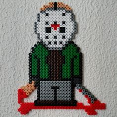 Jason Voorhees - Friday the 13th hama beads by xuxesantandreu