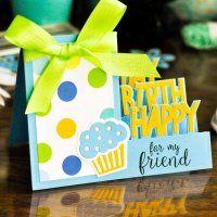 Sizzix Happy Birthday Step-Ups Die Set Cricut Birthday Cards, Homemade Birthday Cards, Kids Birthday Cards, Happy Birthday, Z Cards, Pop Up Cards, Kids Cards, Fancy Fold Cards, Folded Cards