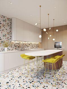 Funky Kitchen, Home Decor Kitchen, Interior Design Kitchen, Kitchen Furniture, New Kitchen, Vintage Kitchen, Modern Interior, Kitchen Ideas, Kitchen White