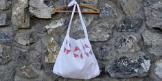 Baby Crafts: Embroidered Pillow Case = A Cute Bag?