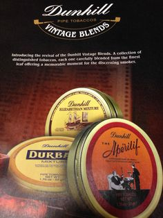 Reintroducing Dunhill Blends :: Pipe Tobacco Discussion :: Pipe Smokers Forums