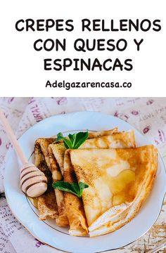 5 recetas de almuerzos para adelgazar - Adelgazar en casa Tacos, Mexican, Vegetarian, Ethnic Recipes, Food, Home, Zucchini Noodles, Chicken With Spinach, Healthy Food