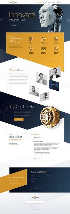 Landing Page Wordpress Website Development Web Design Trends, Design Websites, Web Design Examples, Web Ui Design, Layout Design, Web Layout, Web Responsive, Ui Web, Mise En Page Web