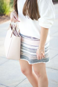 Living with Lexie: LOFT Striped Tweed Skirt