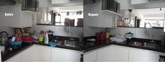 Cozinha antes e depois