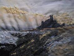 Bamburgh Sunrise- Laura Edgar #textile art www.lauraedgar.co.uk
