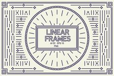 Linear Frames Set by Minkina  on @creativemarket