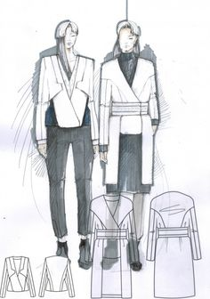 Fashion Sketchbook - fashion design drawings; fashion illustration; fashion portfolio // Mirjam Maeots